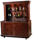 Tall Back Wooden Bar